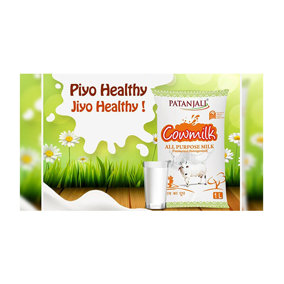 Patanjali Cow Milk gives your day a fresh and nutritious start with the richness of Protein, Calcium and Vitamin D